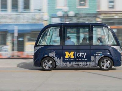 Así son los autobuses autónomos que transportarán a los estudiantes de la Universidad de Michigan