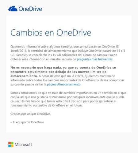 Email de OneDrive