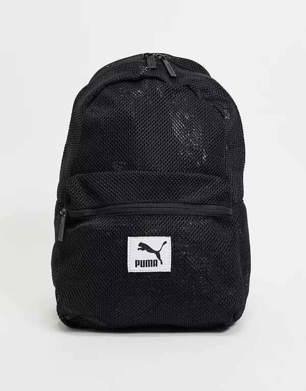 Mochila de malla negra de Puma