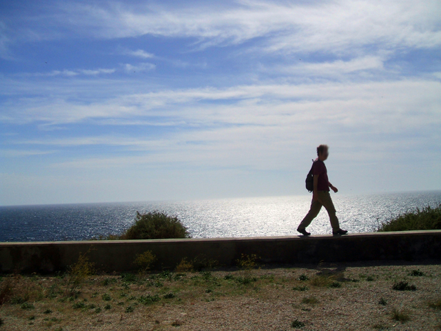 caminar por el mar
