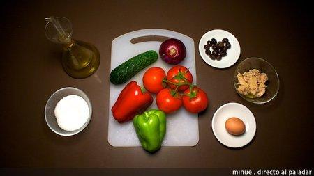 Ensalada típica tunecina - ingredientes