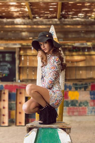 Lucía Rivera Romero imagen de la campaña más boho de Highly Preppy