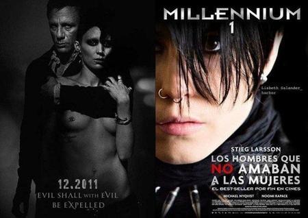 Carteles promocionales de las dos versiones cinematográficas de