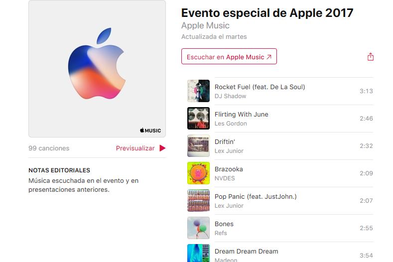 Esta lista oficial de Apple Music contiene (casi) todas las canciones de los anuncios de Apple de la última década
