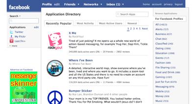 Facebook siguiendo el modelo definido por OpenSocial