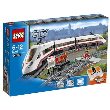 Tren de pasajeros de alta velocidad de Lego City por 101 euros en Amazon. 22% de descuento