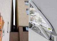 ¿Vivirías en una casa de 122 centímetros de ancho?