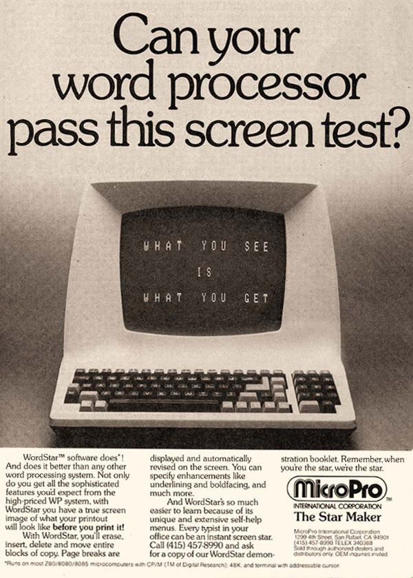 Micropro Wordstar