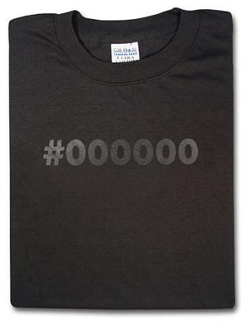 Camiseta de color #000000