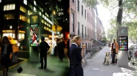 NYFi, así podrían ser las cabinas telefónicas del futuro en Nueva York