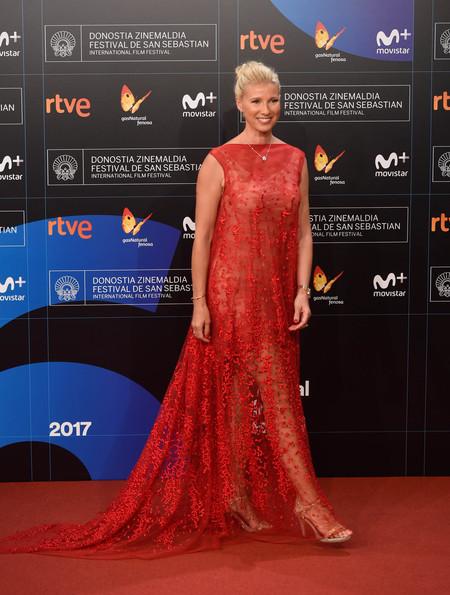 festival de cine de san sebastian alfombra roja Anne Igartiburu