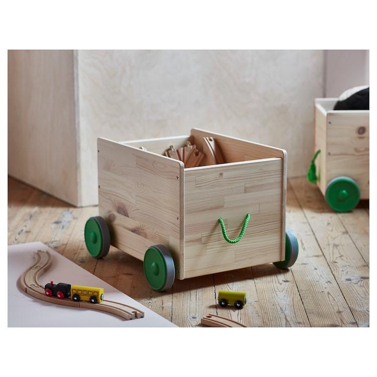 Cajón de madera para almacenar juguetes
