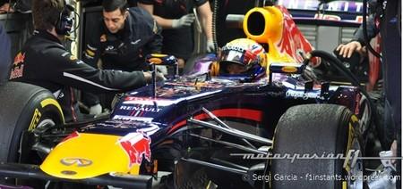 Mark Webber obtiene el mejor tiempo del quinto día de pruebas en Barcelona
