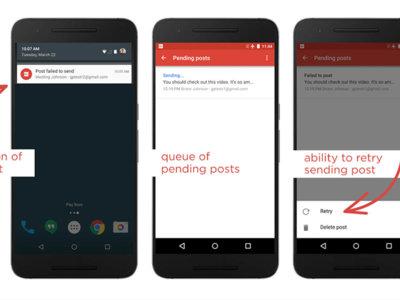 Google+ 7.5 te deja reenviar publicaciones fallidas y corrige un montón de errores