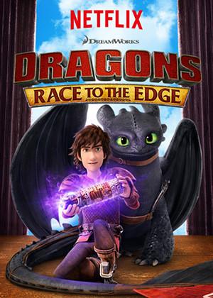 Dragones Carrera Al Borde Poster