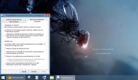 Botón de inicio y escritorio en Windows 8.1