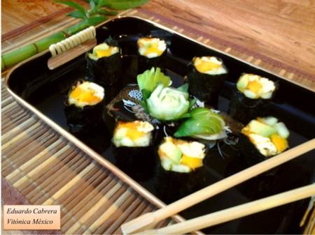 Receta Saludable: Sushi sin arroz de mango y pepino