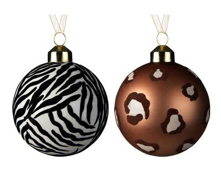 Bolas de Navidad animal print
