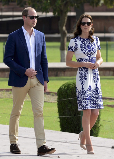 Kate Middleton Taj Mahal Look 2