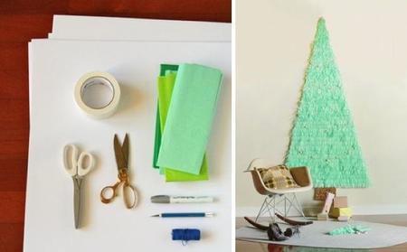 slo necesitaris una cartulina o un cartn para la estructura de fondo un lpiz o un rotulador el papel de seda en los tonos de verde de deseis y tal