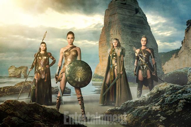 Menalippe, Diana, Hippolyta y Antiope