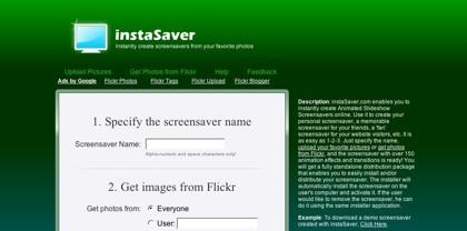 InstaSaver, creando tu salvapantallas personalizado