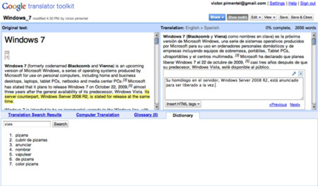 Google Translator Toolkit, la ayuda de Google para traducir textos
