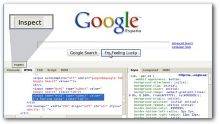 Firebug HTML chrome