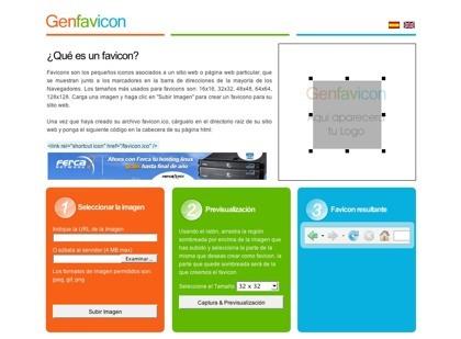 Genfavicon, nueva herramienta online para la creación de favicons