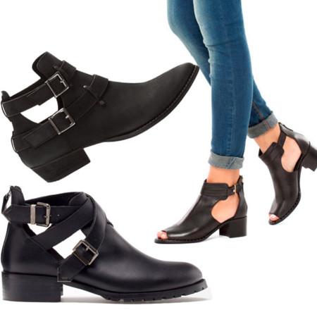 Tendencias low cost clones Balenciaga cut out boots