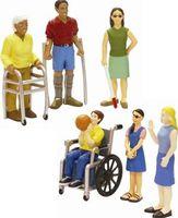 Muñecos que representan personas con discapacidades