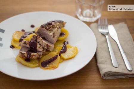Solomillo con salsa de vino, mostaza y miel - 1