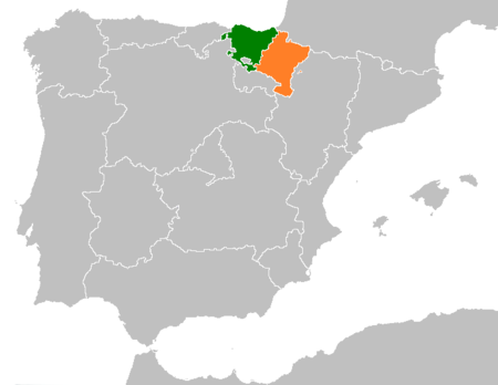 Basque Country Navarre Locator