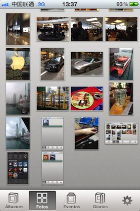 Secciones iPhoto