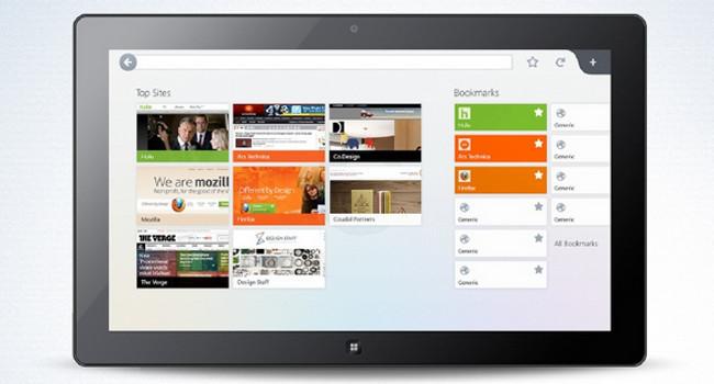 Mozilla Firefox Modern UI