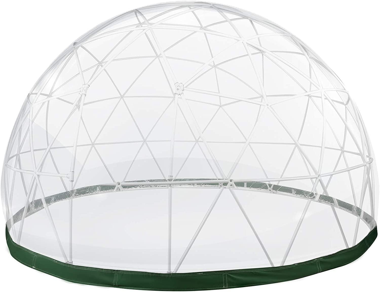 VEVOR Cúpula de Jardín de 2,9 m Exterior, Cúpula de Iglú de Invernadero, Kit de Tienda Geodésica con Cubierta de PVC, Domo de Iglú Ideal para Comedor, Camping, Casa de Juegos al Aire Libre