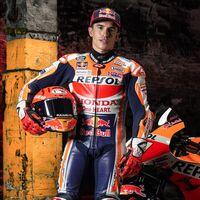 Marc Márquez utilizó un doble para las escenas de acción en la presentación de la nueva Honda de MotoGP