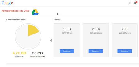Google Drive rebaja los precios del almacenamiento en la nube