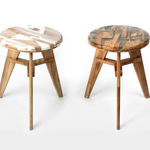 El ingenioso upcycling transforma desechos de madera en atractivos taburetes con diseños exclusivos