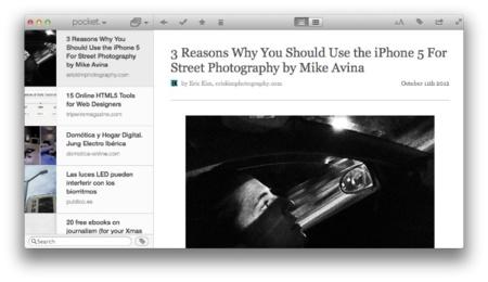 Pocket, por fin la versión para Mac del servicio para leer más tarde
