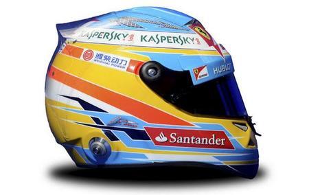 Los cascos de la Fórmula 1. Edición temporada 2013
