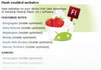 Adobe prepara una lista de direcciones con contenido Flash para ser visitada con los teléfonos Android 2.2