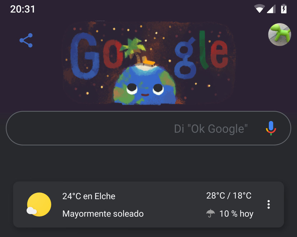 The Google application begins to activate his dark theme at his stable version: you can activate