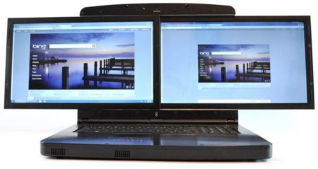 """gScreen SpaceBook, dos pantallas de 17.3 pulgadas en un """"portátil"""""""