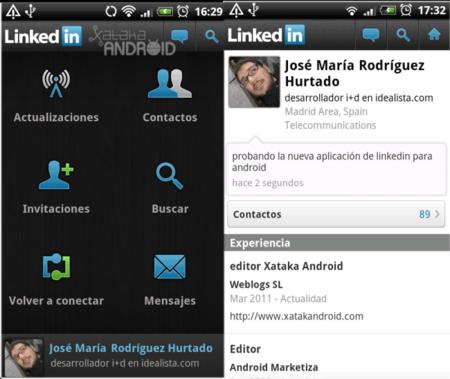 Nueva versión de LinkedIn para Android disponible en el Android Market