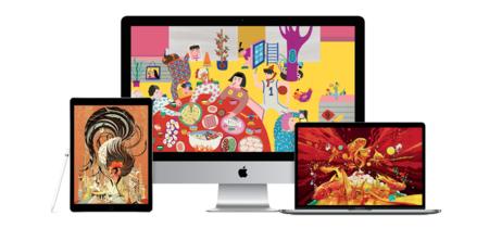Apple publica nuevos fondos de pantalla creados con el Mac y el iPad para celebrar el Año Nuevo Chino