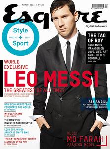 Leo Messi en Esquire: la estrella del balón también quiere serlo de las portadas
