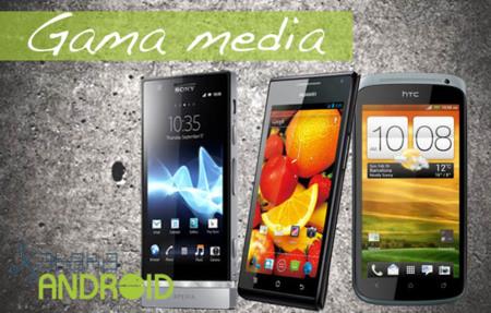 Los seis mejores teléfonos Android de gama media