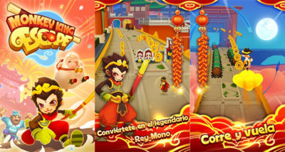 Monkey King Escape, el nuevo endless runners de Ubisoft para Android
