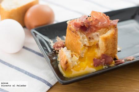 Receta de huevos con jamón en baguette